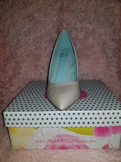 Nude pointed toe heels Thumbnail