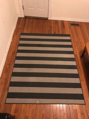 Gray stripped area rug 4x5 for Sale in Baltimore, MD