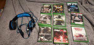 Photo Xbox 360 plus.Games.Headset.TwoController.MemoryAdapter