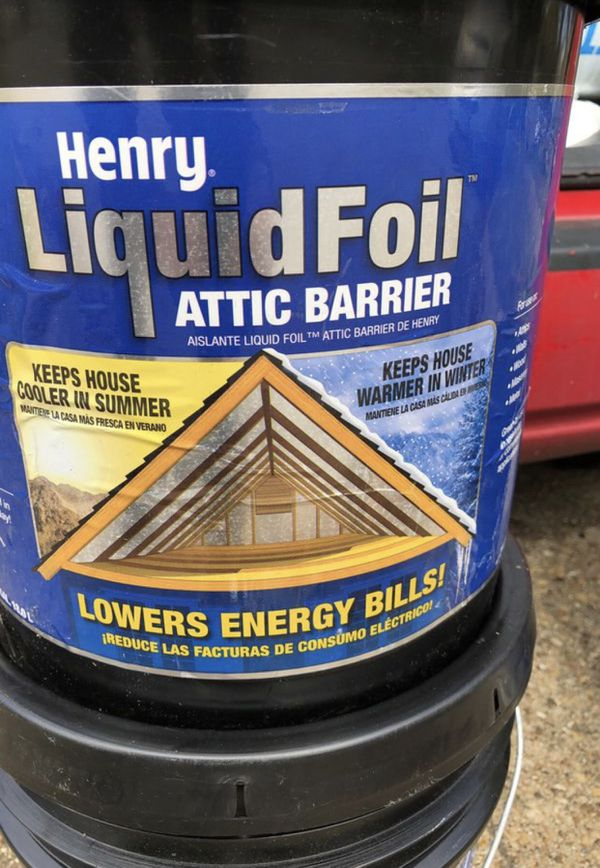 Henry liquid foil attic spray energy cost reduced for Sale in Mesquite, TX  - OfferUp