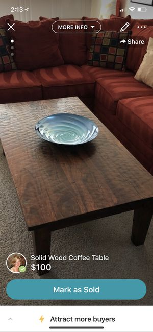 Large solid wood coffee table for Sale in Oakton, VA