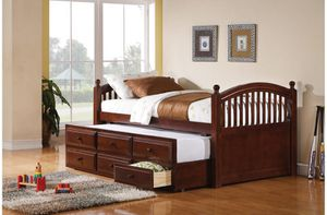 TWIN DAY BED CHESTNUT WITH STORAGE for Sale in Miami, FL