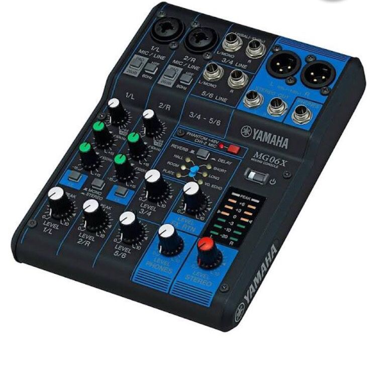 BRAND NEW Yamaha MG06X 6-Channel Mixer