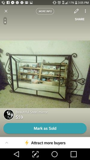Home decor. Metal framed mirror for Sale in Phoenix, AZ