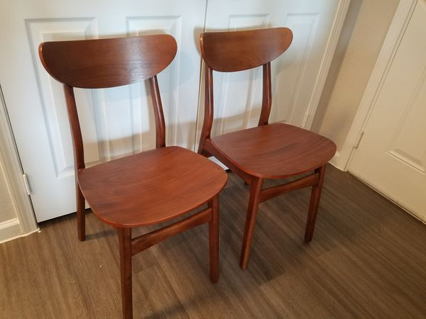df96ad199850 2 West Elm Classic Café Walnut Dining Chairs - Brand New! for Sale ...