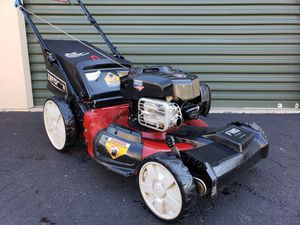 Photo NICE Craftsman Self Propelled Lawn Mower Briggs OHV BIG WHEELS PRICE IS FIRM