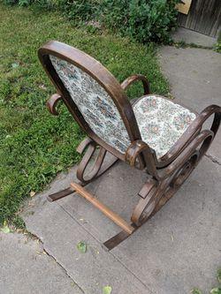 Antique wooden rocking chair Thumbnail