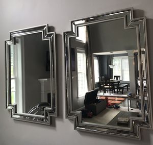Two Beautiful Large Glam Mirrors (By Nicole Miller)- Excellent Condition for Sale in Aldie, VA