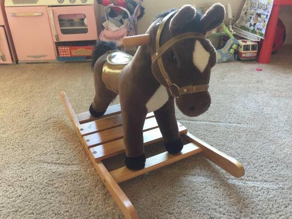 Melissa Doug Rock And Trot Plush Ride On Rocking Horse