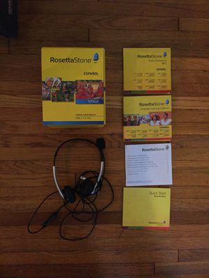 Rosetta Stone Spanish Full DVD Set w/ Headset for Sale in Los Angeles, CA
