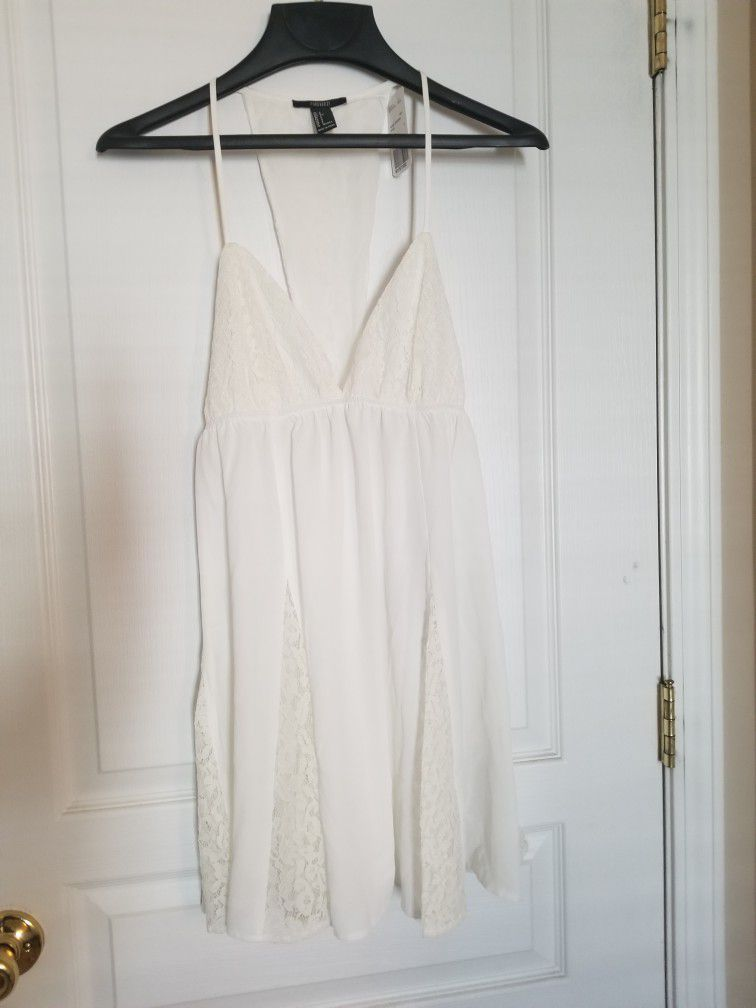 Forever 21 White Intimate Nightdress