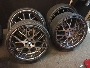 """BMW 22"""" staggered wheels and tires for Sale in Atlanta, GA"""