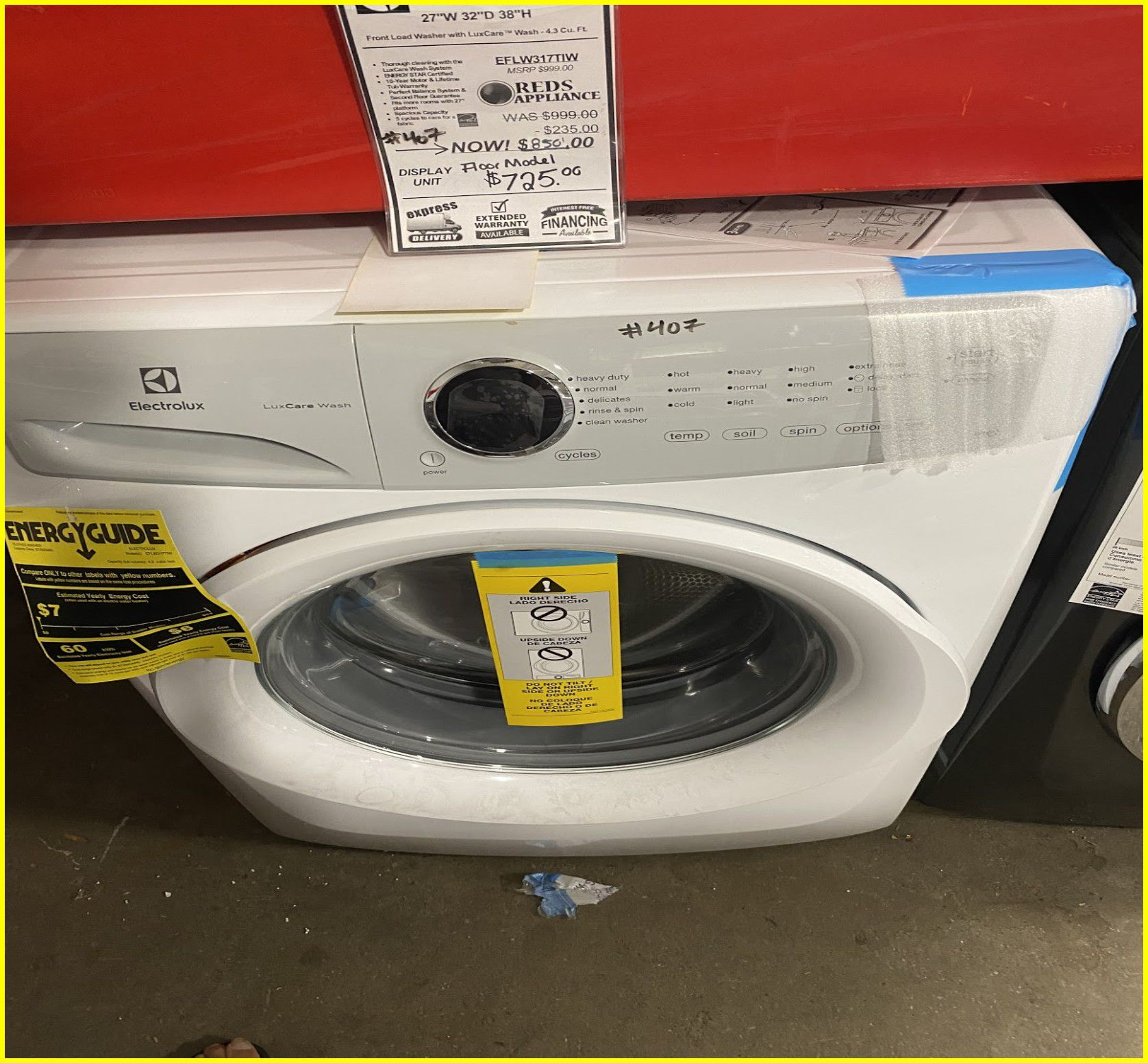 Electrolux Front Load Washer #407