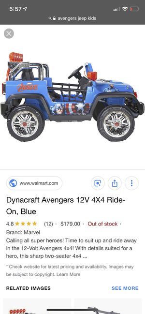 Dynacraft Avengers Captain America Jeep for Sale in Columbus, OH