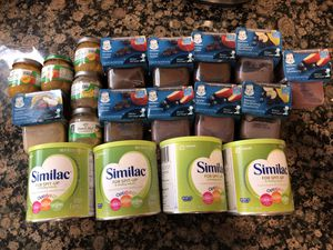 Similar for spitup baby formula and food for $60! for Sale in Olney, MD