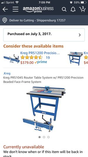 Kreg Router Table w/ Beaded Face-Frame System for Sale in ...
