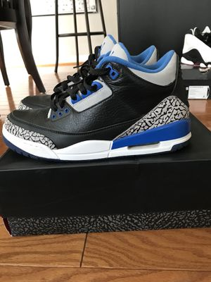 "Air Jordan ""Sport Blue"" 3s Sz: 10 for Sale in White Plains, MD"