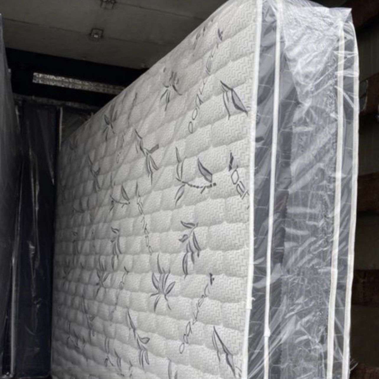 New Bamboo Double Pillow Top Mattress And Box Spring. Any Size: Twin, Full, Queen, King. Please Message Me For Prices, We Can Deliver