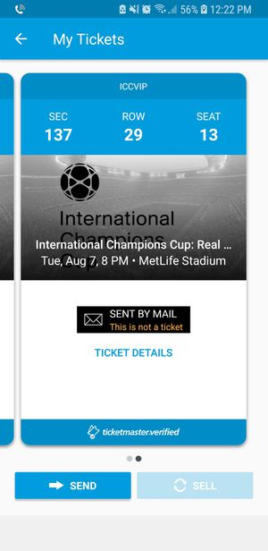ICC RM vs As Roma for Sale in New York, NY