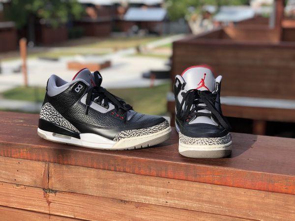 0c05f3bd02d3c4 Nike Air Jordan III Retro 3 Black Cement Sz 10.5 for Sale in San ...