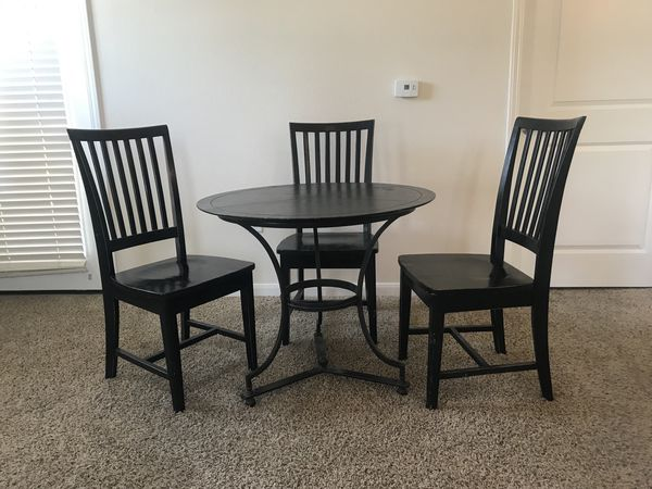 Kitchen Table And 4 Pottery Barn Chairs For Sale In