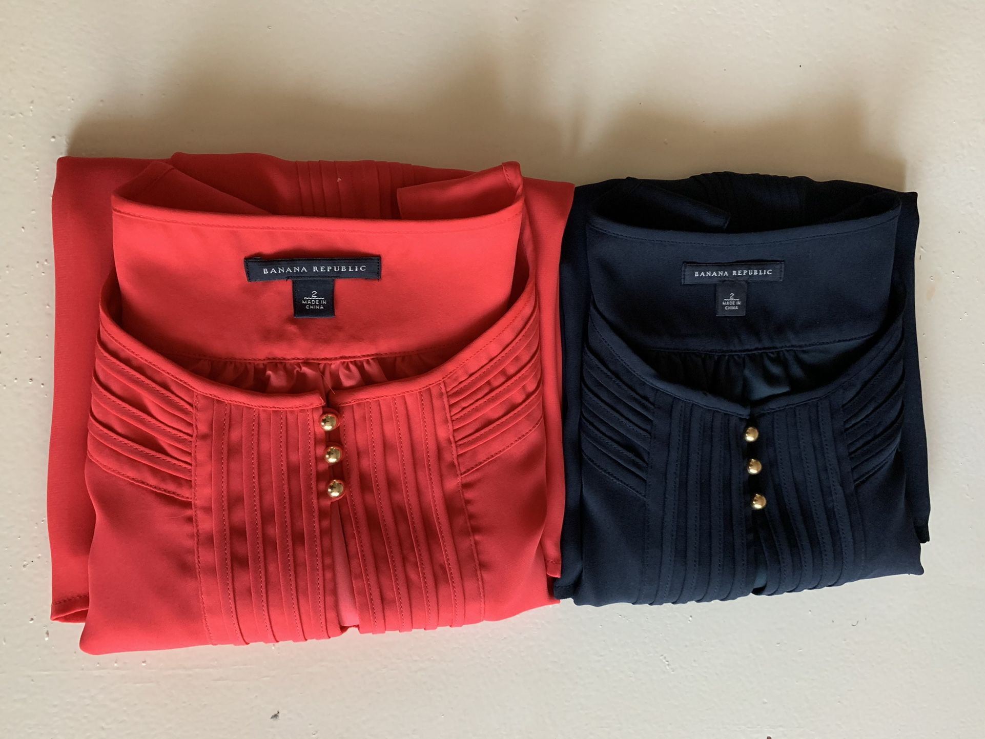 Two Sleeveless Blouses Size 2