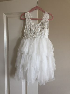 "88a7e302fb2 Pop Sparkle ""The Alicia"" Flower Girl Dress White Size 4T  EXCELLENT  condition for"