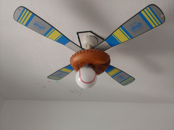 baseball ceiling fan