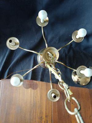 Brass Ceiling Chandelier for Sale in Hawthorne, CA