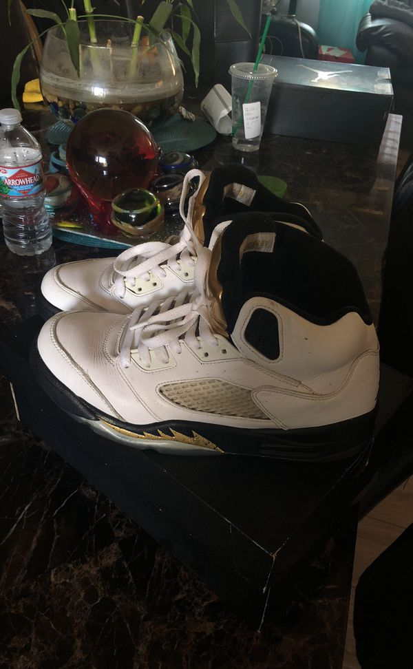 """13ac4f48386 Air Jordan 5 Retro """"Olympic Gold"""" 8.5 (Clothing & Shoes) in San Jose, CA -  OfferUp"""