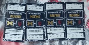 4 Michigan Tickets 11/17 Section 10 Row 69 for Sale in Flat Rock, MI