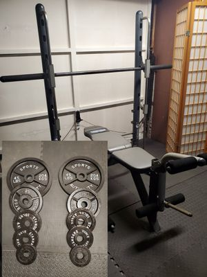 Photo Iron grip half smith machine plus 175lbs of olympic weights