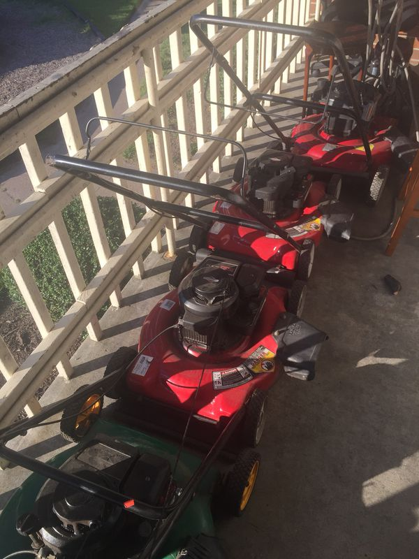 4 running good condition lawn mowers a edger and buffer for All ride motors norfolk va