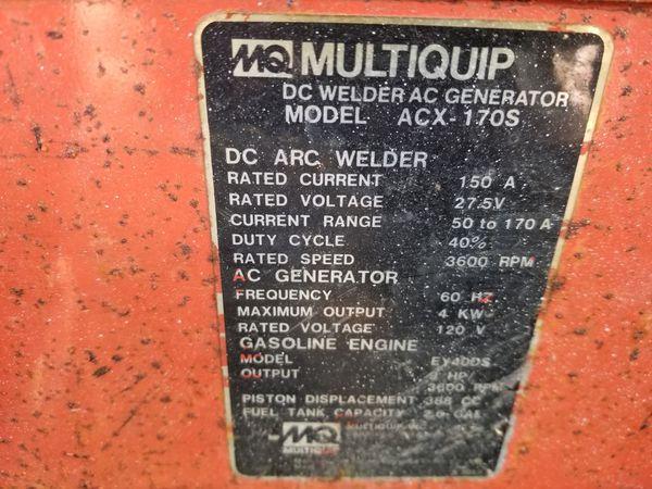 Multiquip stick welder and generator for Sale in Inkster, MI - OfferUp