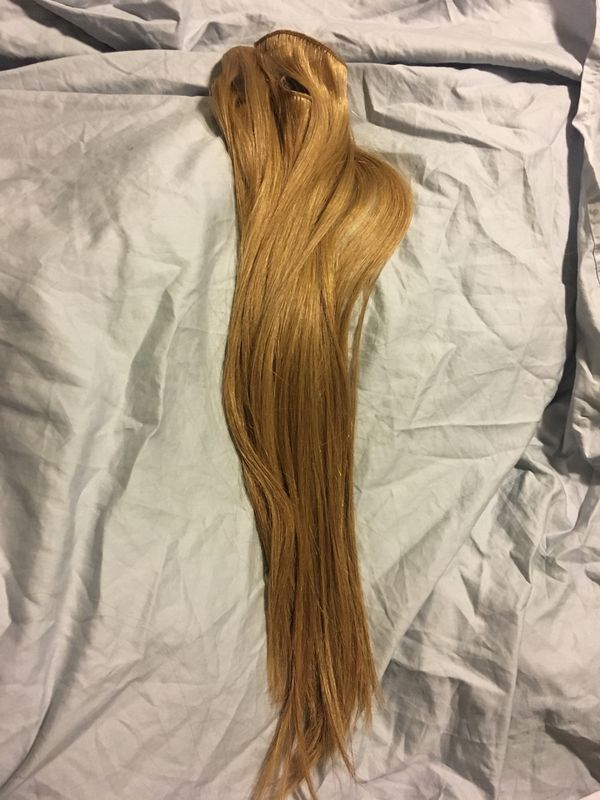 Clip In Caramel 18 Inch Human Hair Extensions By Euronext For Sale