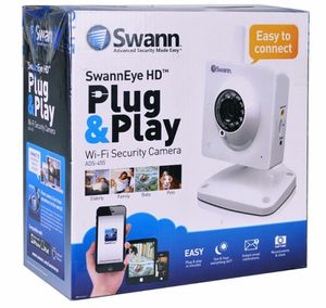 (Lot of 3) Swann ADS-455CAM SwannEye 720p HD Plug & Play Wi-Fi Day/Night Security Camera w/Smartphone Access (Records to microSD) for Sale in Miami, FL