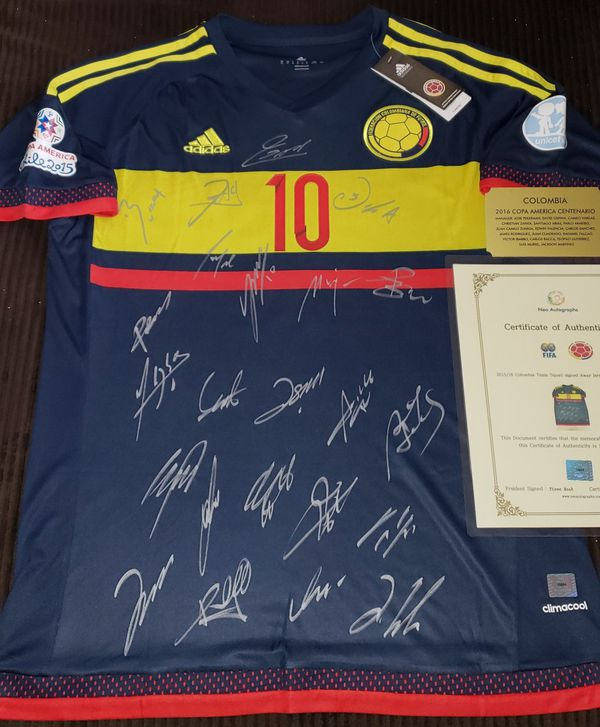 Colombia 2016 Copa America Soccer Team Signed Away Jersey 24 Players w COA  for Sale in Pembroke Pines 4e5c8a421