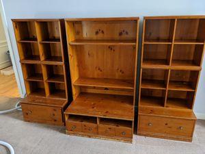 Photo Pottery Barn Cameron media hutch 8 piece unit