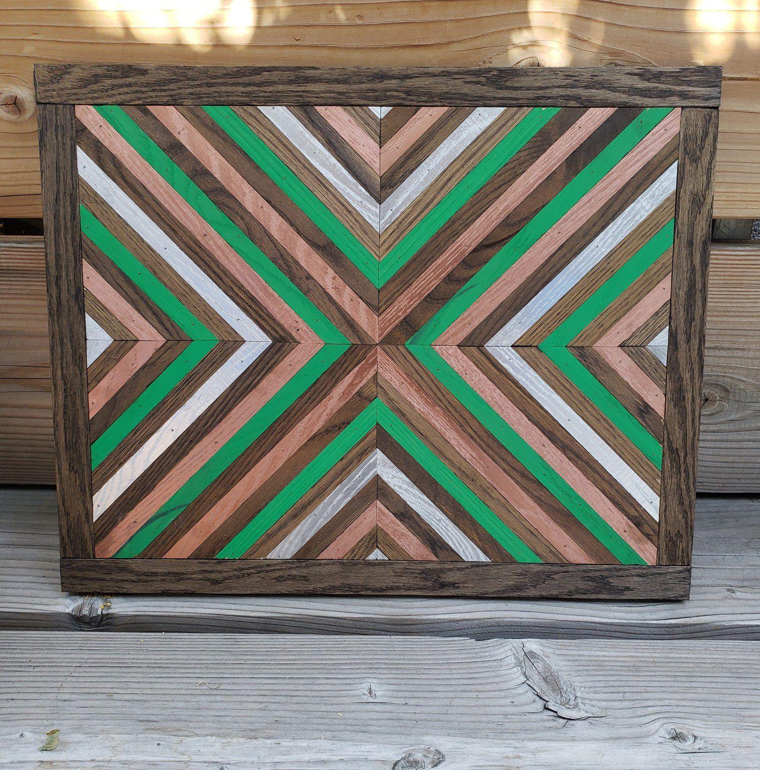 Decorative wood art piece $30