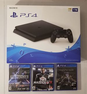 Brand New PS4 1Tb with 3 great new games for Sale in Chantilly, VA