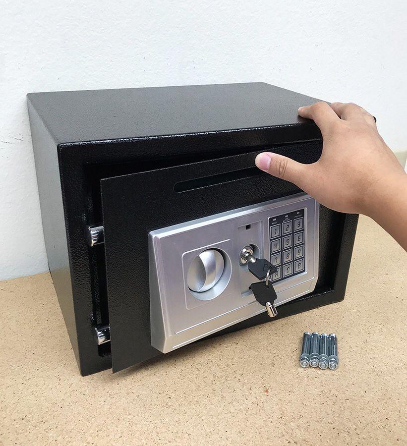 "New in box $55 Depository 14""x10""x10"" Digital Security Safe Box Electric Keypad Lock w/ Master Key"