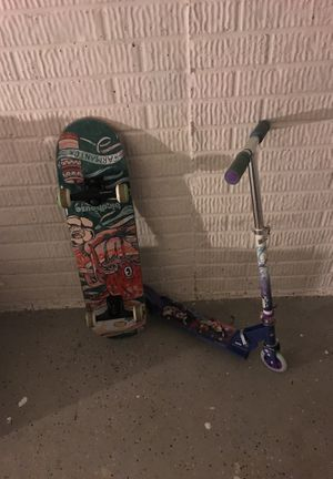 BIRDHOUSE SKATEBOARD AND DISNEY SCOOTER for Sale in Ellicott City, MD