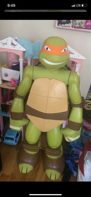 Photo Life Size 4 Ft Tall Teenage Mutant Ninja Turtles Michelangelo Mikey Figure