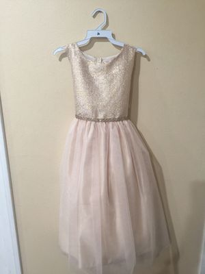 7378988702d39f New Champagne Gold Flower Girls Party Dress Size 10 for Sale in Hacienda  Heights