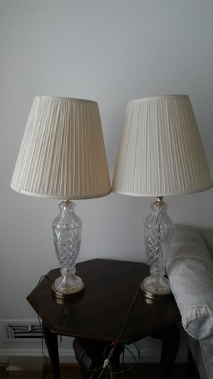 2 gorgeous Chrystal lamps for Sale in Silver Spring, MD