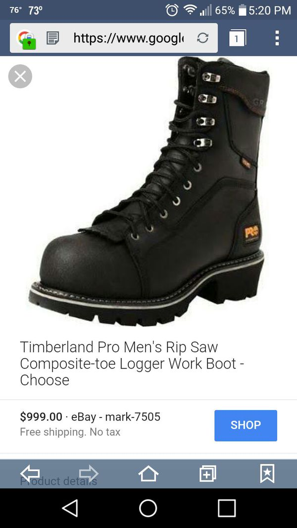 24790b14231 Timberland PRO Men's Rip Saw Comp Toe Logger Work Boot,Black for Sale in  Punta Gorda, FL - OfferUp
