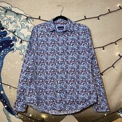 Gentleman's Outfitters Red/White/Blue Floral Button Down Shirt Size M Thumbnail