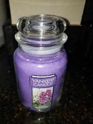 Yankee Candle Large Jar Candle- Lilac Blossoms for Sale in Gaithersburg, MD