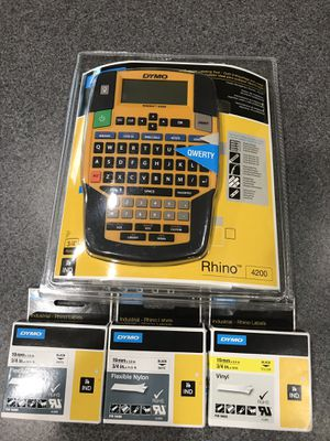 Label maker. New. 3 extra tapes included. for Sale in Goodyear, AZ