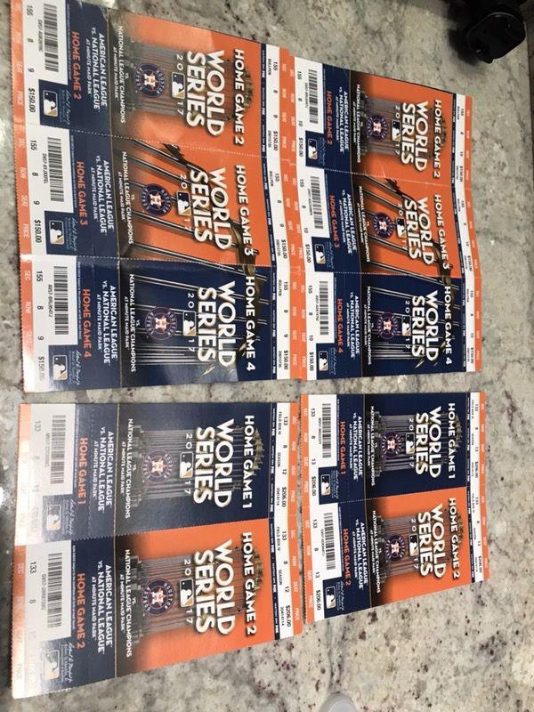 Astros WS Original Tickets Memorabilia